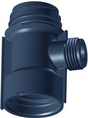 "Uponor 1XG3/4""MT Uponor Aqua Plus Fordeler PPM1"" c/c 50mm"